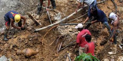 Doden door aardverschuiving Filipijnen