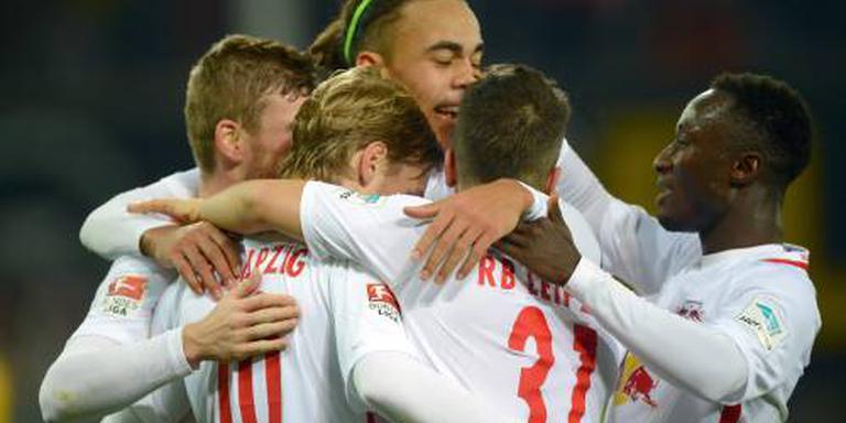 RB Leipzig verstevigt eerste plek Bundesliga