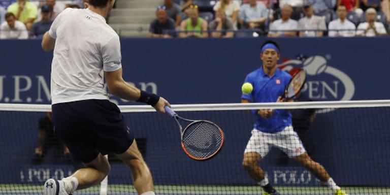 Nishikori stuurt Murray naar huis in New York
