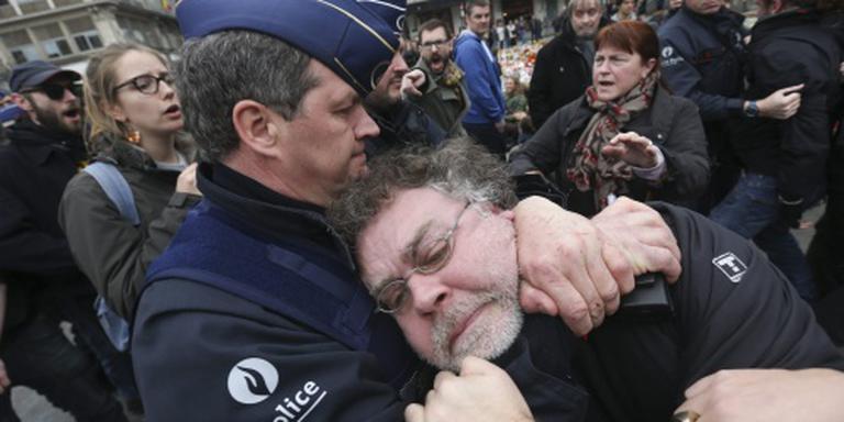 Betogers opgepakt in Brussel
