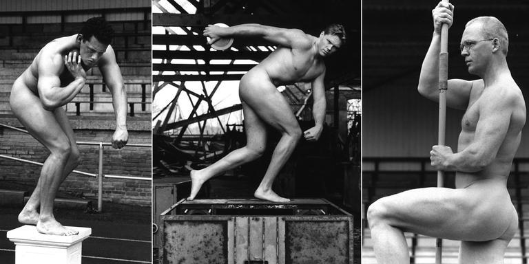 Atleten Jos Bentum, Rutger Smith en Onno Heerlien (vlnr) werden in 2001 door Ewoud Broeksma gefotografeerd.
