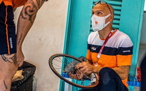 Coen Vuyk tijdens de Paralympische Spelen.