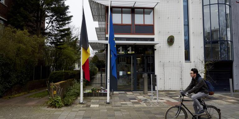 Vlaggen halfstok om aanslagen Brussel