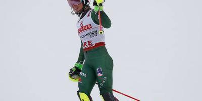 Shiffrin opnieuw wereldkampioene op slalom