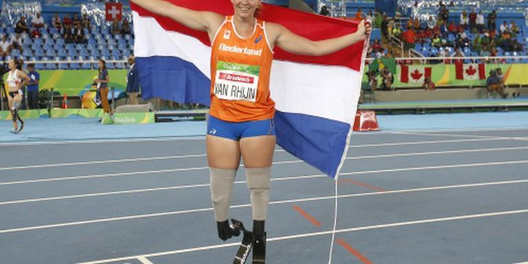 Goud voor Marlou van Rhijn op de 100 m sprint