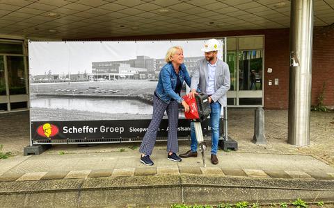 Sloop Delfzicht ziekenhuis in Delfzijl is begonnen. De tijd was er rijp voor. 'Het pand is niks meer'