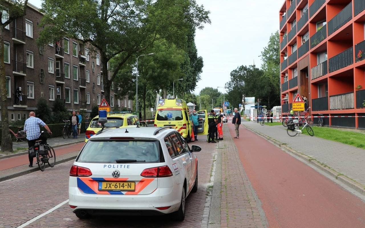 Steekpartij aan de Korreweg in Groningen.
