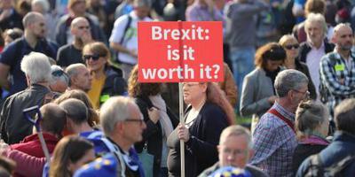 Massabetoging in Londen voor brexitreferendum