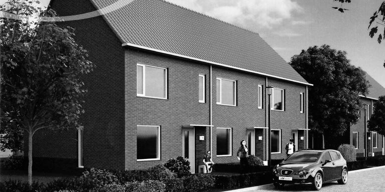 Nieuwbouw in Emmen loopt vertraging op door procedurele misser. FOTO ARCHIEF DVHN