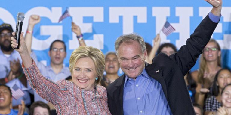 'Tim Kaine vicepresident onder Clinton'