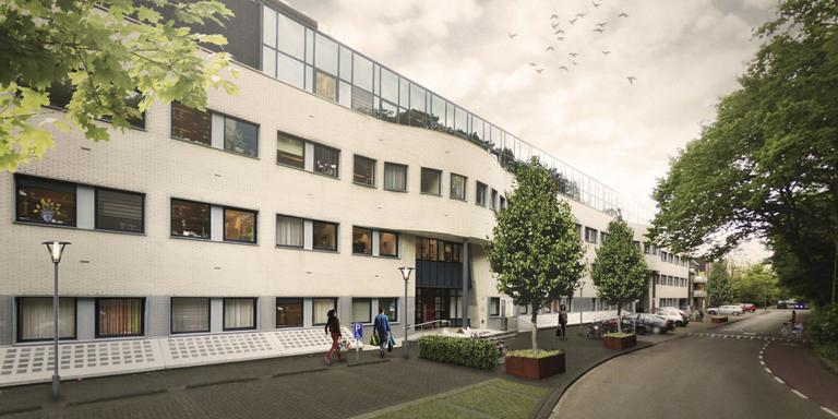 De luxe woningen komen in het lage kantoordeel aan de Waterloolaan