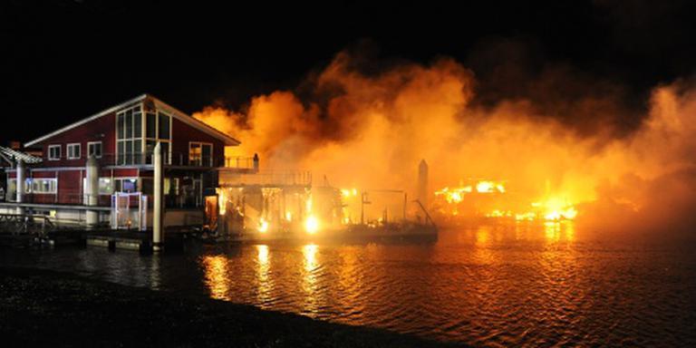 Opnieuw brand in jachthaven Wessem