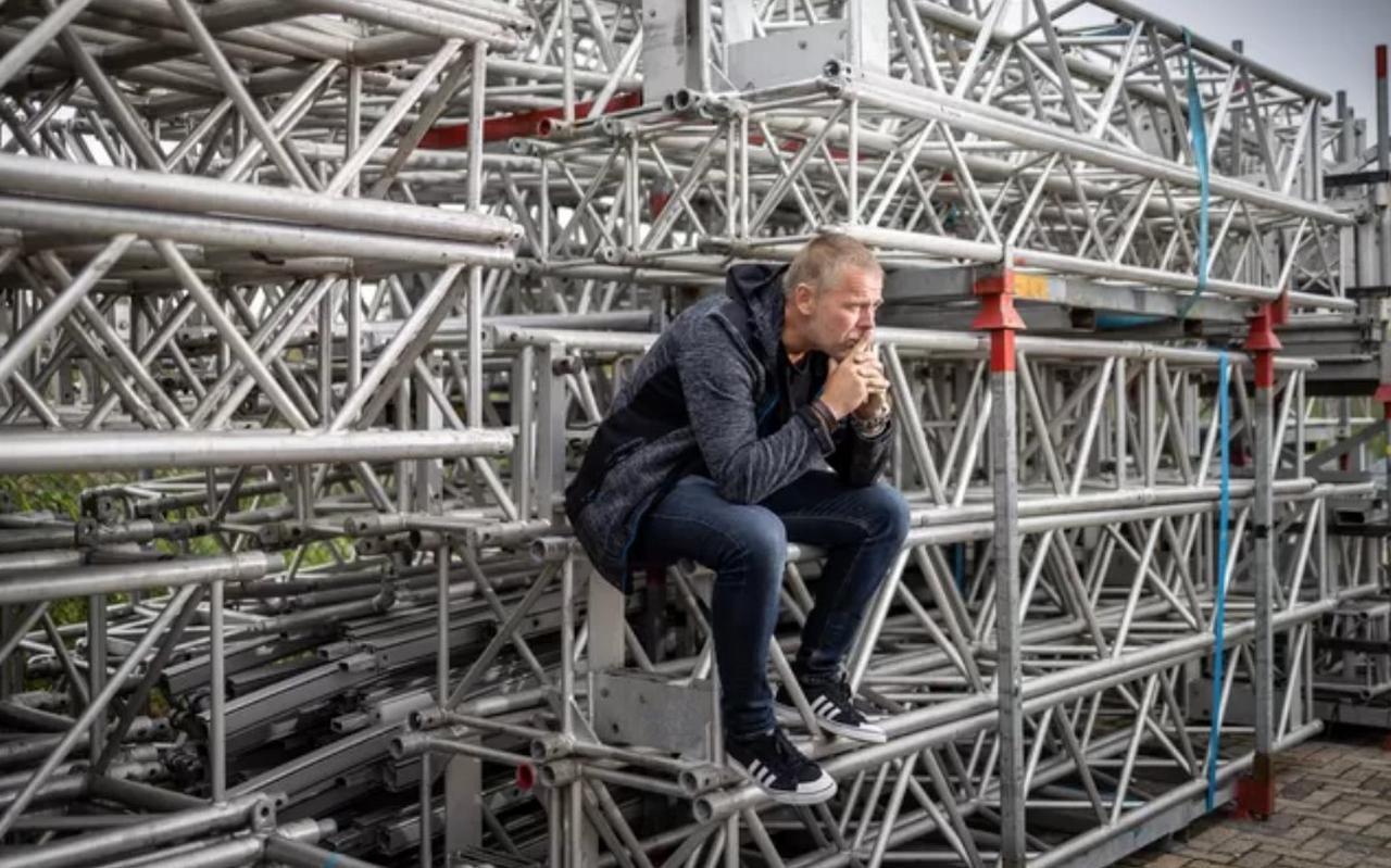 Directeur Gino Spijkerman van podiumbouwer Interstage uit Meppel.