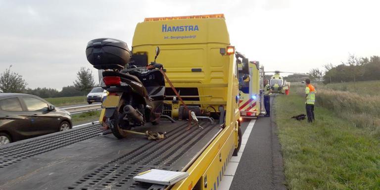 Vertraging op N33 door ongeluk motorrijder.
