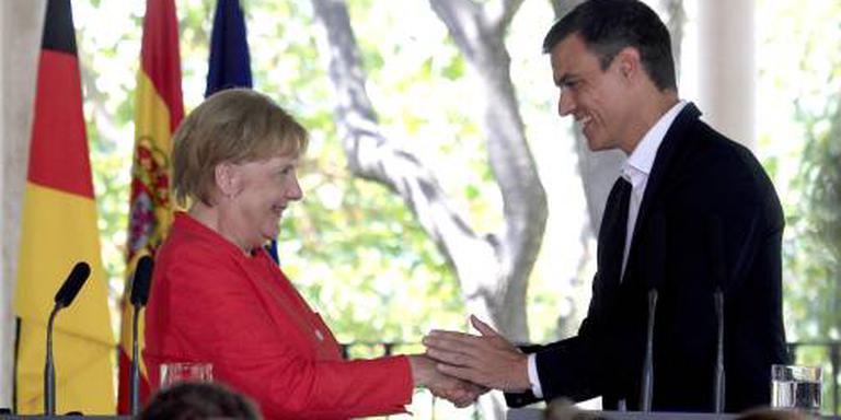 Merkel steunt Spanje bij migrantenpolitiek