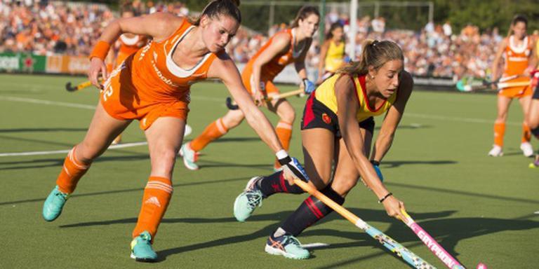 Hockeysters verslaan Spanje in uitzwaaiduel