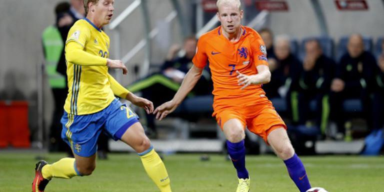 Oranje op achterstand tegen Zweden