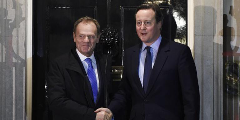 'Tusk en Cameron akkoord over uitkeringen'