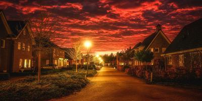Avondrood in Schoonoord, foto: Miranda Heemskerk/Facebook