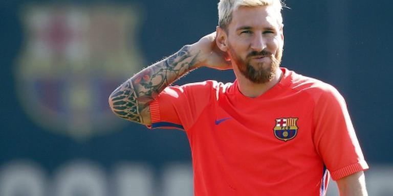 President Macri bedankt Messi