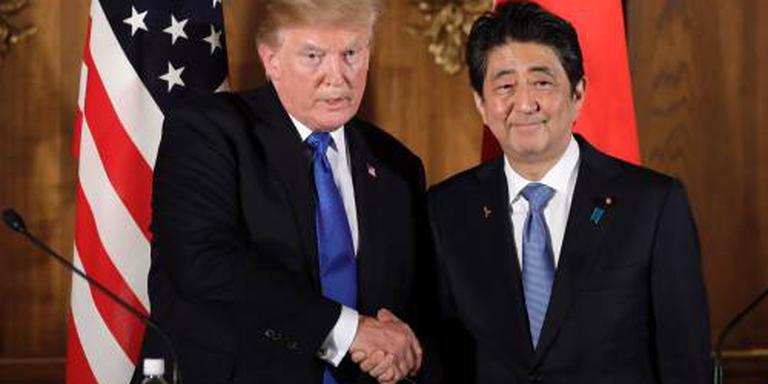 Trump, Abe willen druk op Noord-Korea houden