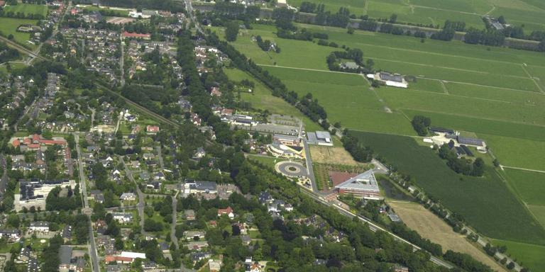 Luchtfoto Zuidhorn. Foto: Archief DvhN