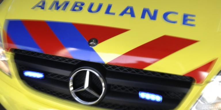 Automobilist gewond in Ruinen. Foto: ANP