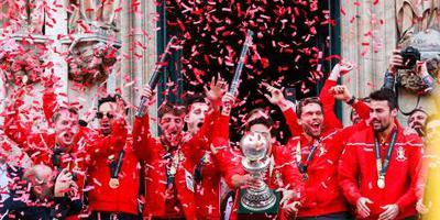 Groots onthaal voor Belgische hockeyers
