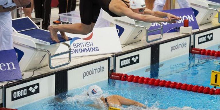 Goud estafettezwemsters op 4x100 vrij