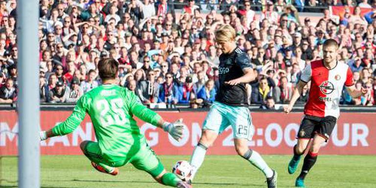 Dolberg slaagt wel voor Ajax in De Kuip