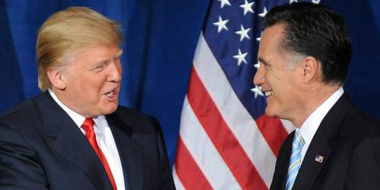 Trump en Romney leggen ruzie bij