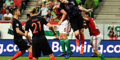 Kroatië onderuit bij Hongarije