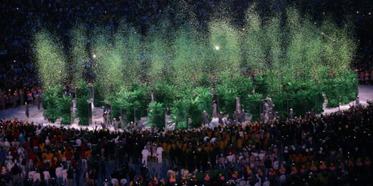 Groene ringen bij opening Spelen