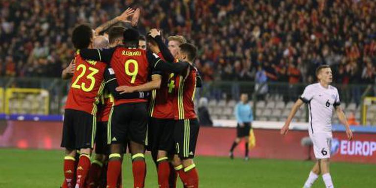 België speelt Estland weg: 8-1