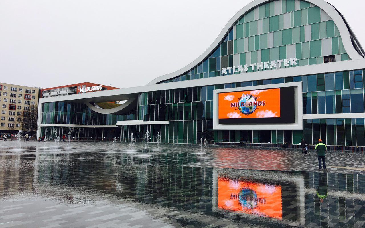 De ingang van Wildlands en het Atlastheater. Foto: Frank Jeuring