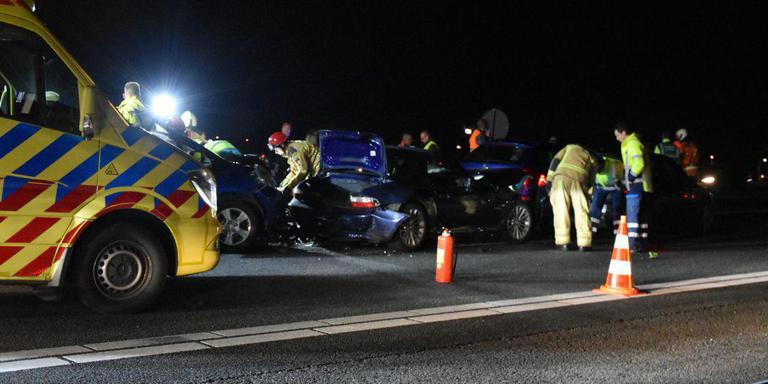 File op A28 bij De Wijk na ongeluk.