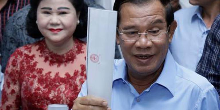 Regeringspartij Cambodja rekent op alle zetels