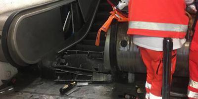Voetbalfans gewond door ongeval roltrap Rome