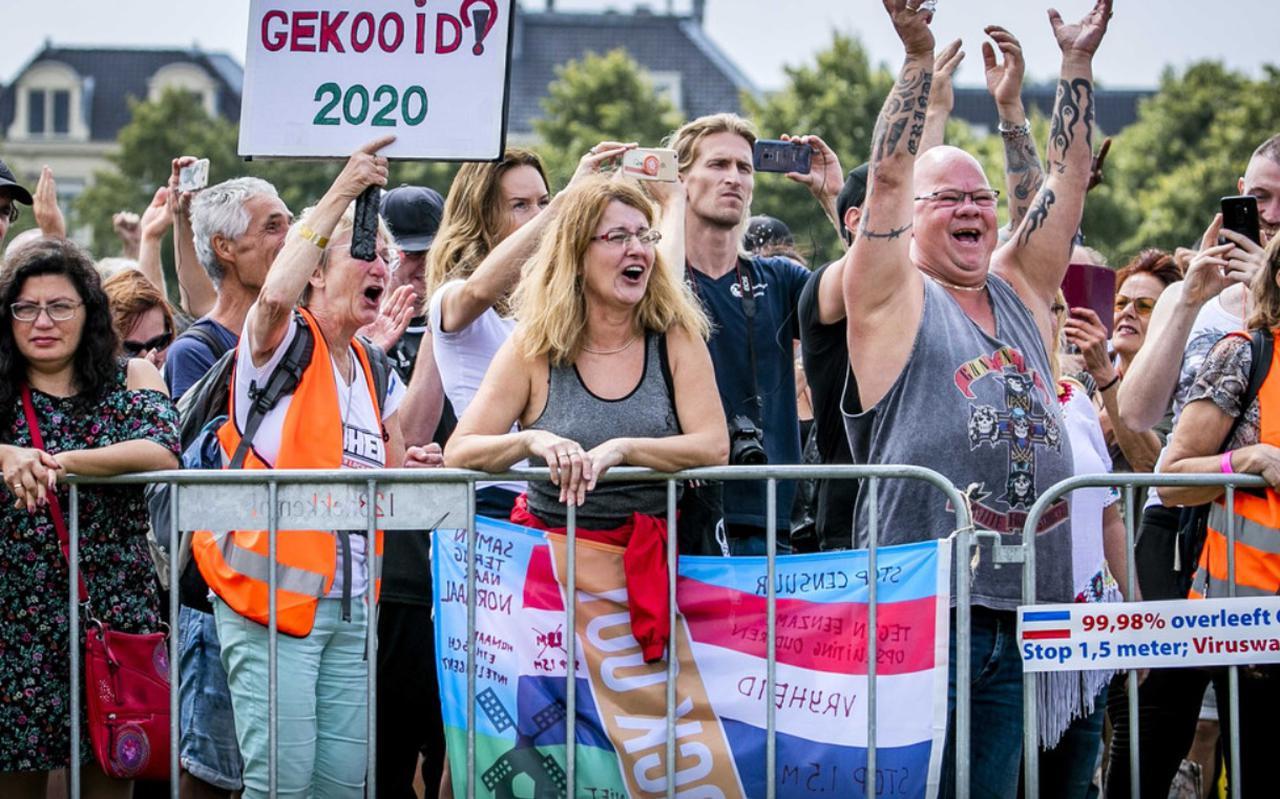 Demonstranten voerden op 1 augustus actie tegen de coronamaatregelen op het Malieveld. De bijeenkomst was georganiseerd door actiegroep Viruswaanzin.