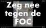 Protestnummer Nee tegen FOC Assen