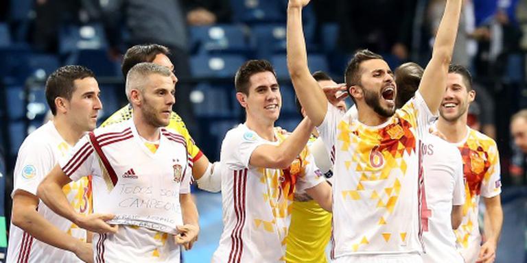 Spanje wint EK zaalvoetbal