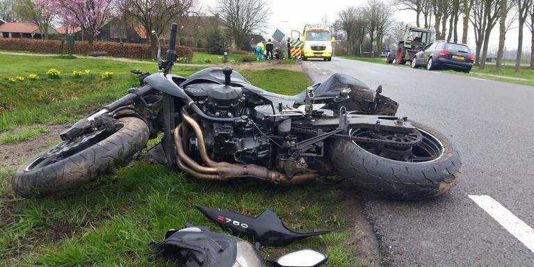 Motorrijder gewond na ongeluk in Ruinerwold.
