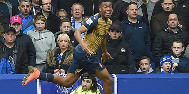 Arsenal wint bij Everton