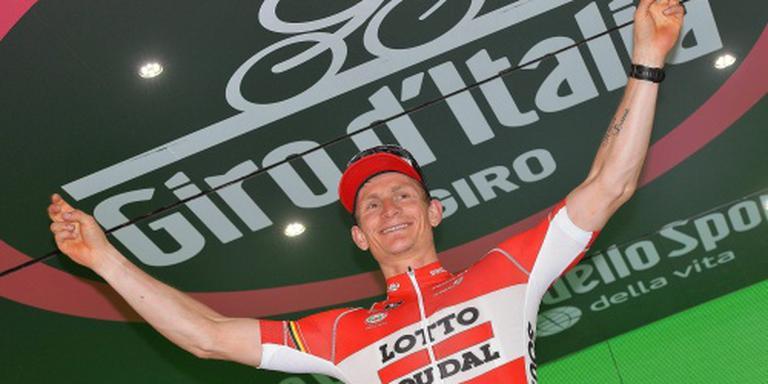 Greipel wint etappe, Dumoulin blijft leider