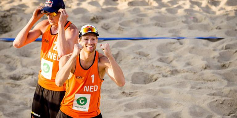 Nederlandse beachvolleyballers ronde verder