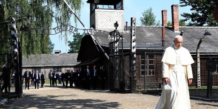 Paus Franciscus in Auschwitz