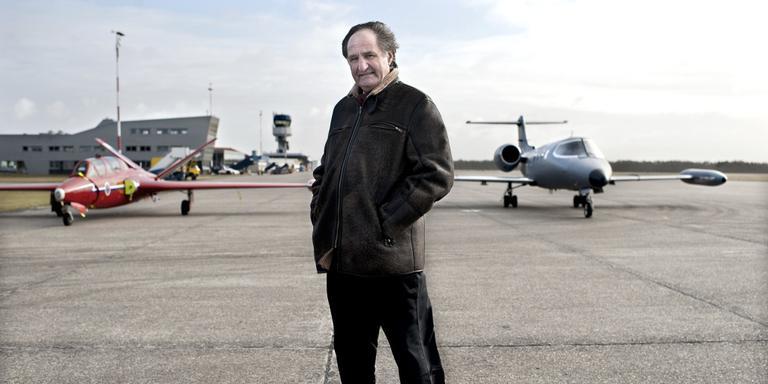 Jos Hillen op vliegveld Eelde in 2012. Foto archief Jan Zeeman