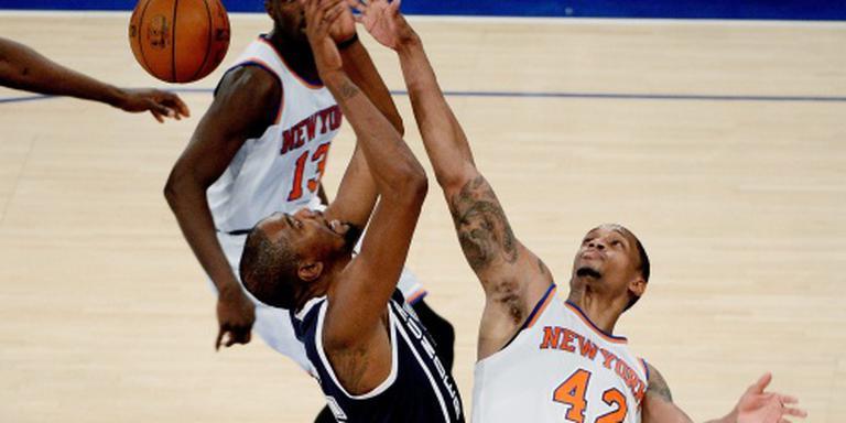 Durant leidt Thunder langs Knicks in New York
