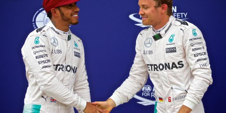 Laatste waarschuwing Hamilton en Rosberg