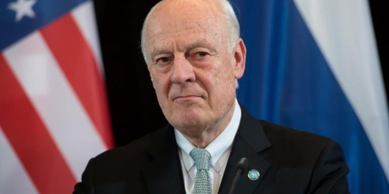VN-gezant Staffan de Mistura in Damascus